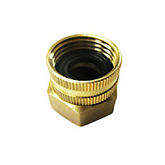 3/4-inch x 3/4-inch Dual Swivel Brass Garden Hose Connector for Pressure Washers