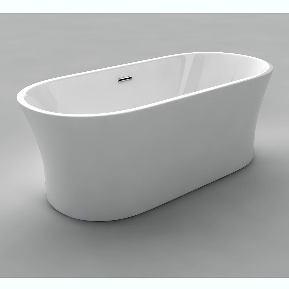 Aston 5 Feet 6 Inch Acrylic Clawfoot Slipper Bathtub With