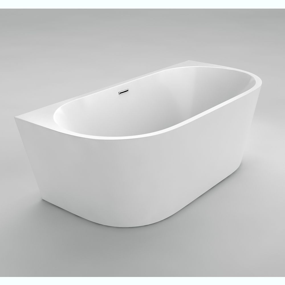 Rochelle ii seamless free standing acrylic bathtub 67 for Cheap free standing tubs