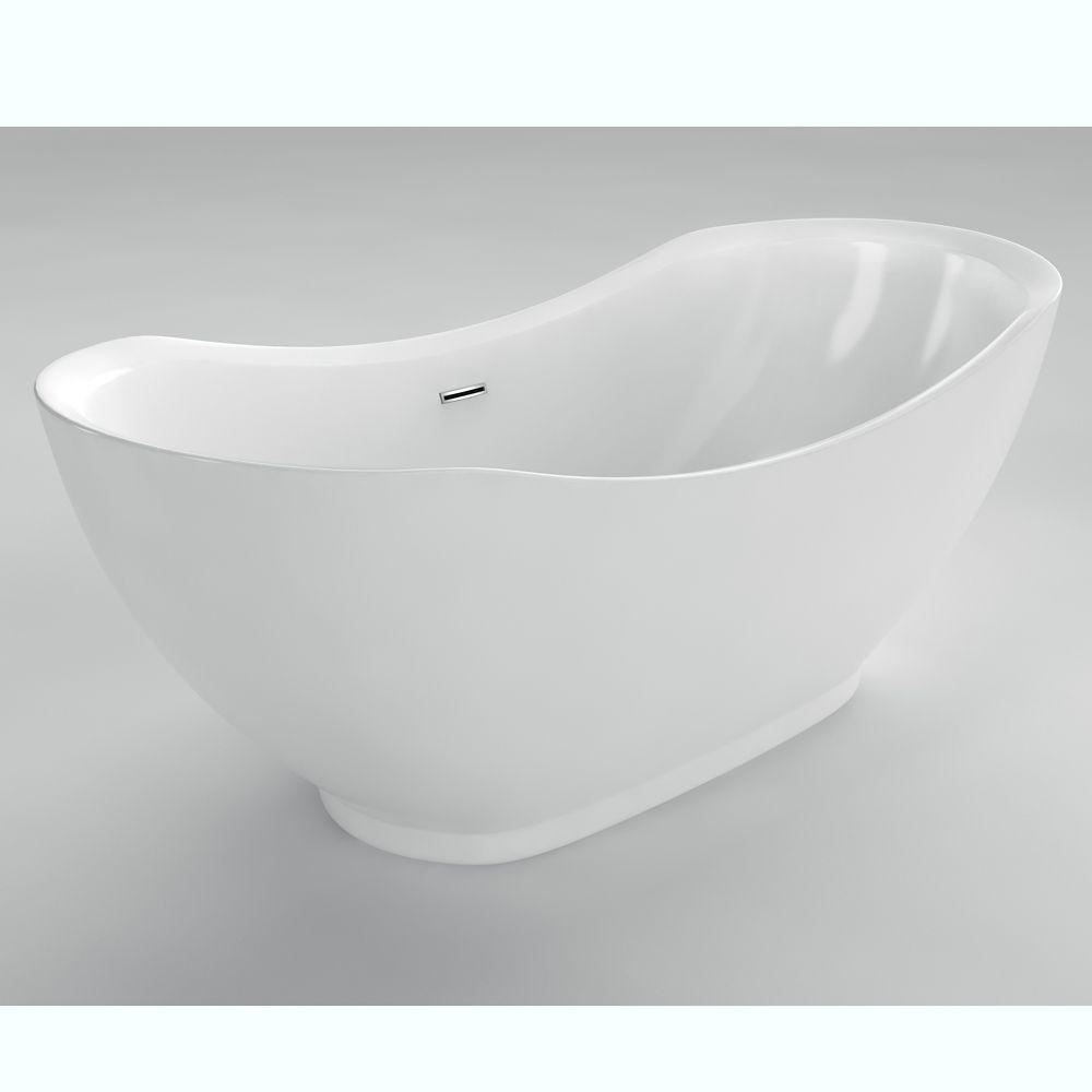 Antoine 5 Feet 6-Inch Acrylic Freestanding Bathtub