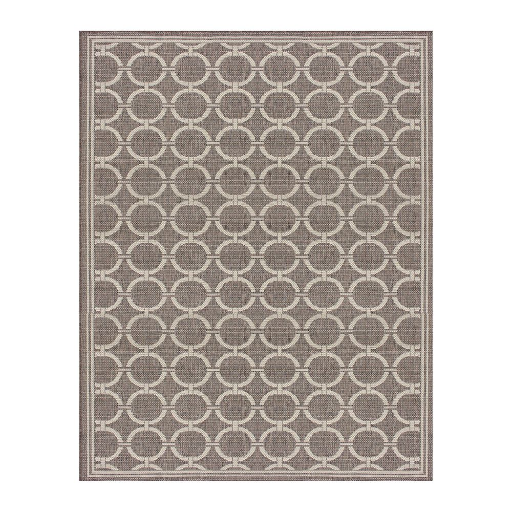 Hampton Bay 5  ft. 2-inch x6  ft. 7-inch Fresco Barlow Taupe/Grey