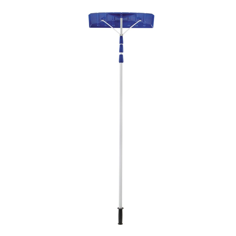 21-Foot Twist-N-Lock Telescoping Snow Shovel Roof Rake With 6-Inch By 25-Inch Poly Blade