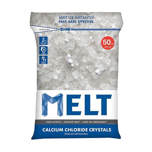 Snow Joe MELT 50 lb Produit de déglaçage à cristaux de chlorure de calcium en sac réutilisable