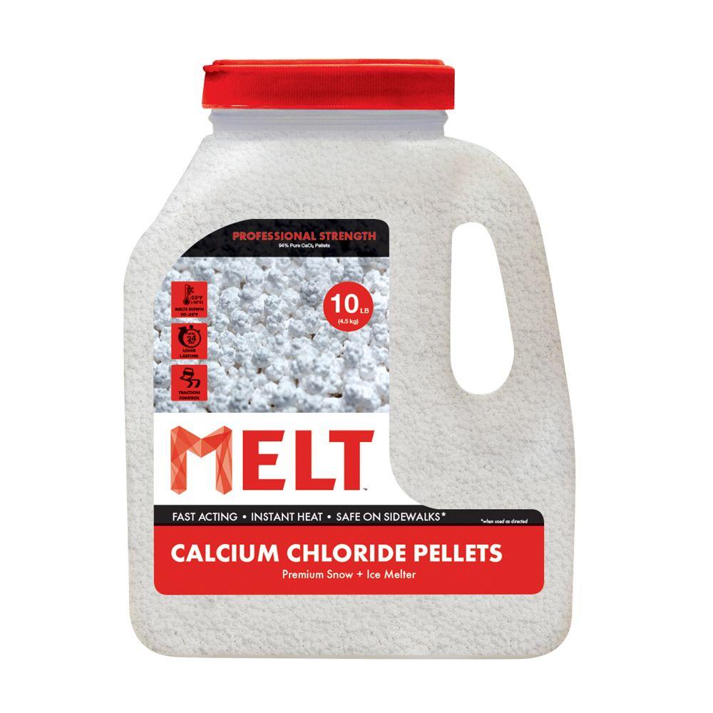 Snow Joe Melt 10-LB Calcium Chloride Pellets Ice Melter - Jug