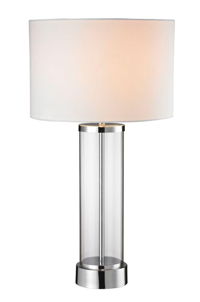 """Lampe de table 28"""" chrome"""