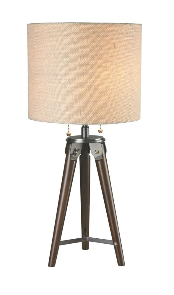 26 Inch Wooden Table Lamp