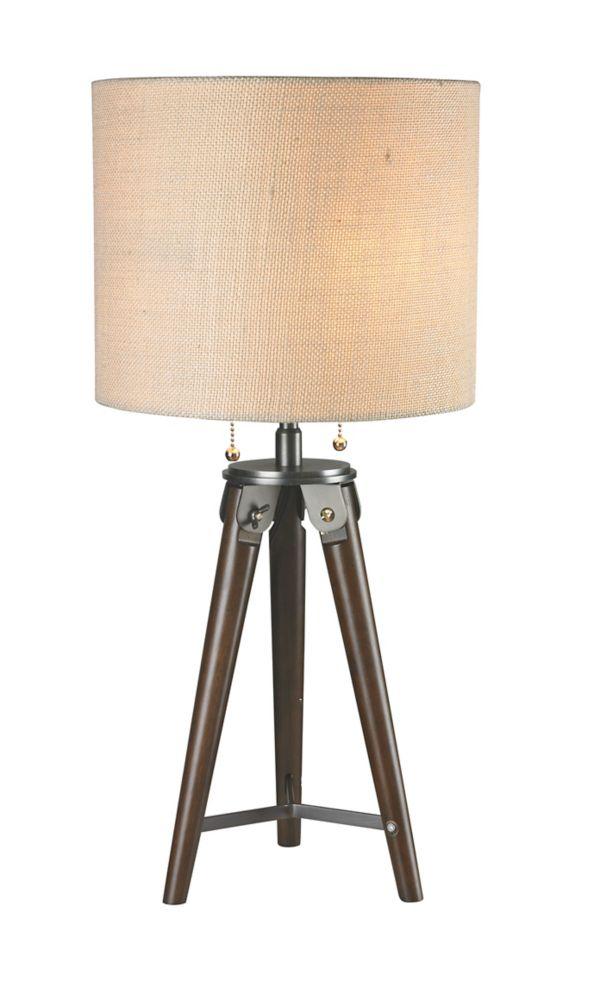 """Lampe de table 26"""" de bois"""