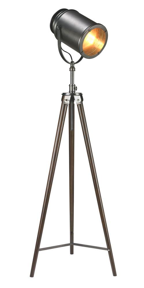 """Lampe de plancher trépier 57"""" avec projecteur"""