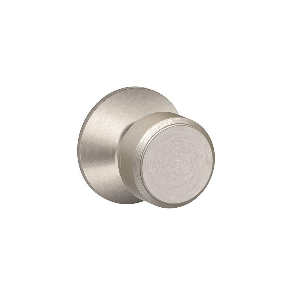 Bowery Satin Nickel Passage Lock Knob