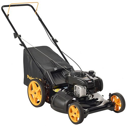 Poulan Pro 21-inch Gas 3-in-1 Push Lawn Mower with High Wheels