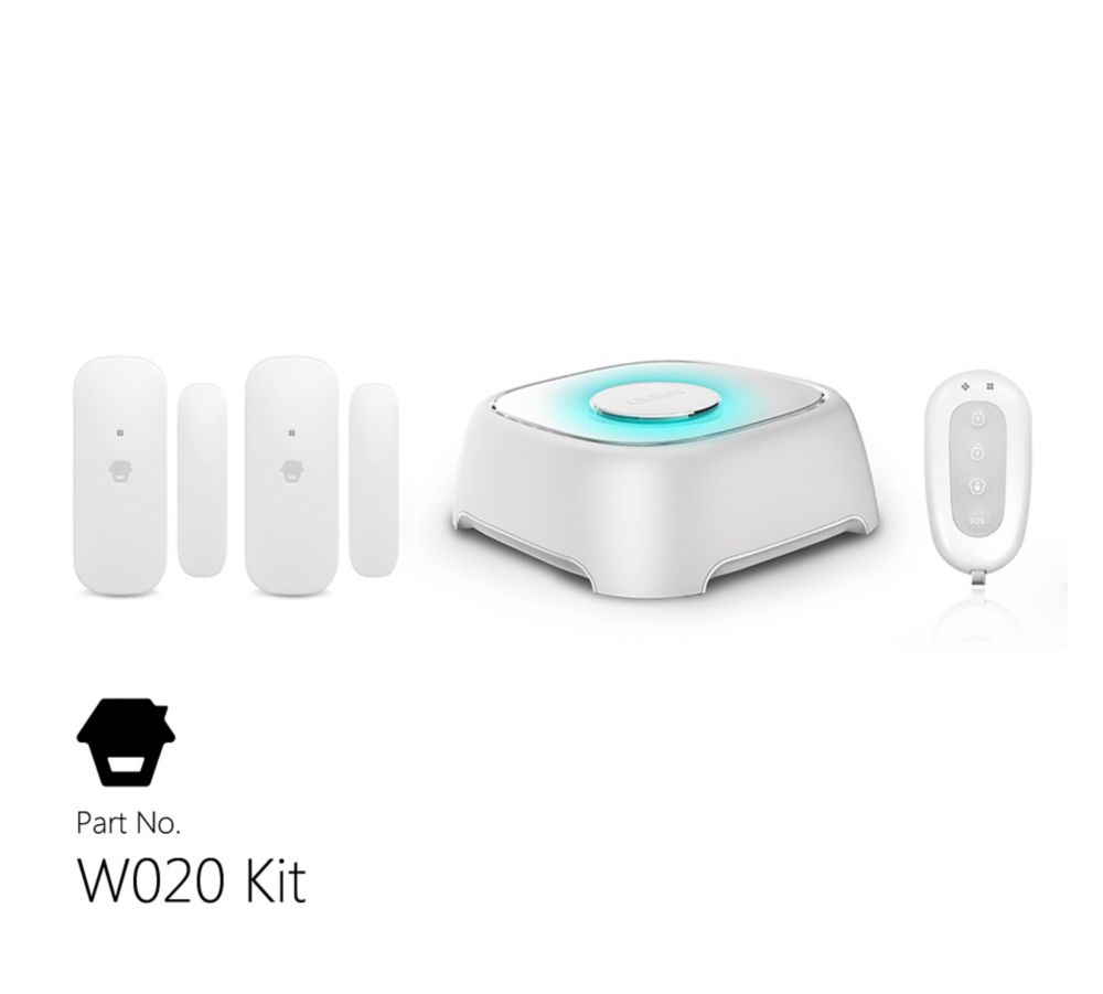 Wi-Fi Alarm System With Door & Window Sensors And Remote Control