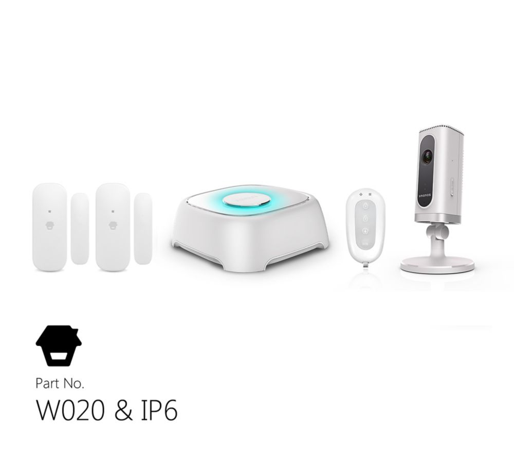 Wi-Fi Alarm System With Wi-Fi Camera, Door & Window Sensors, and Remote Control