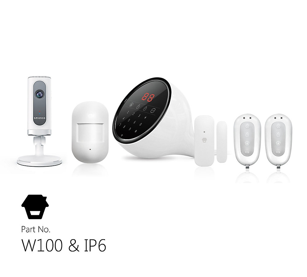 Wi-Fi/PSTN Alarm System with HD Camera, Touch Keypad Display, Door Window  Sensors, Motion Detector