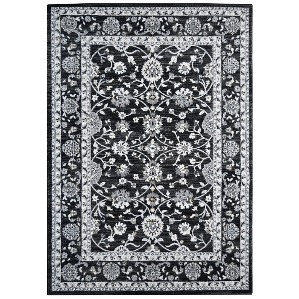 Black Timeless 5 Feet x 7 Feet 6 Inches Area Rug