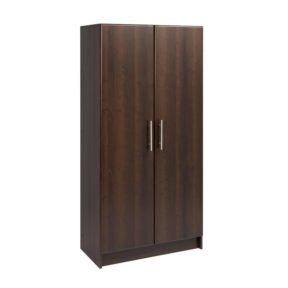 prepac espresso elite 32 storage cabinet the home depot. Black Bedroom Furniture Sets. Home Design Ideas