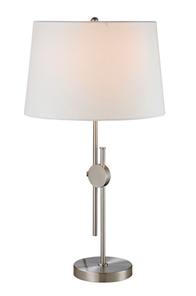 Adjustable Brushed Nickel Table Lamp