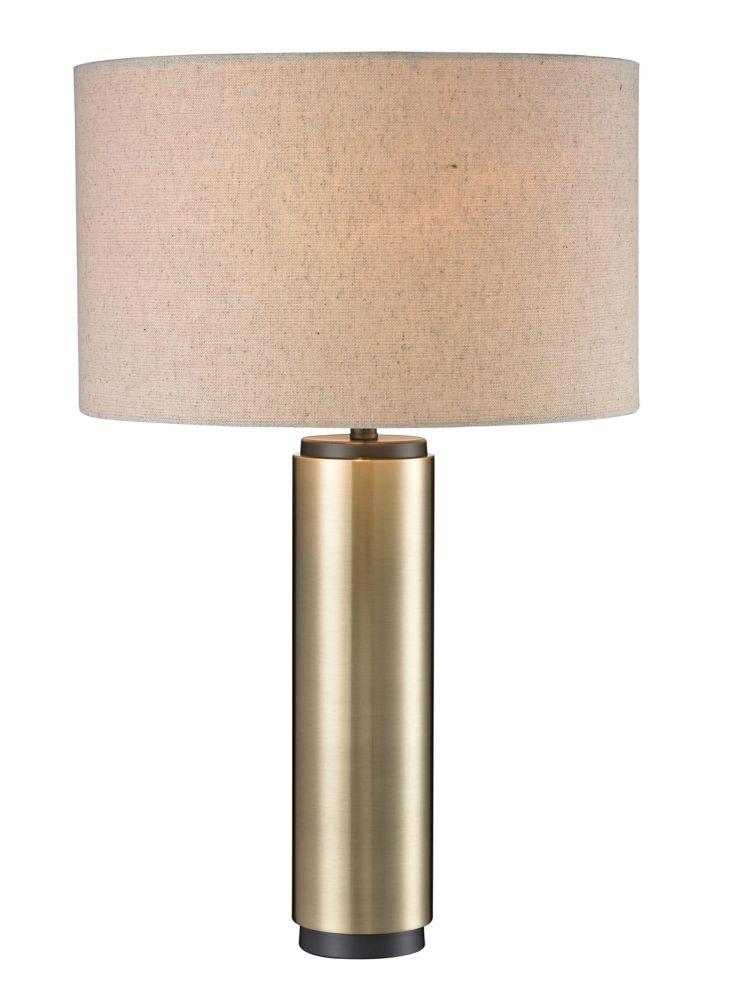Lampe de table or antique avec accents bronze foncé