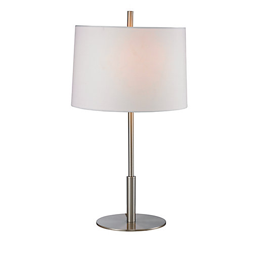 23 Inch Brushed Steel Accent Lamp