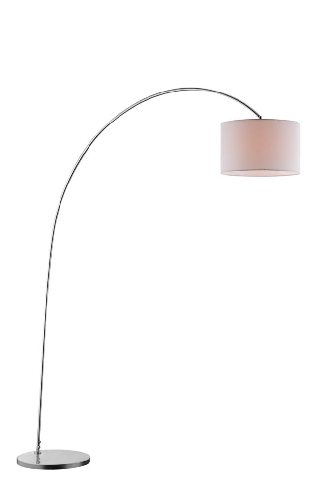 78 Inch Brushed Steel Arc Lamp
