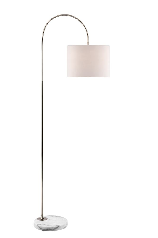 72 Inch Brushed Steel Mini Arc Floor Lamp