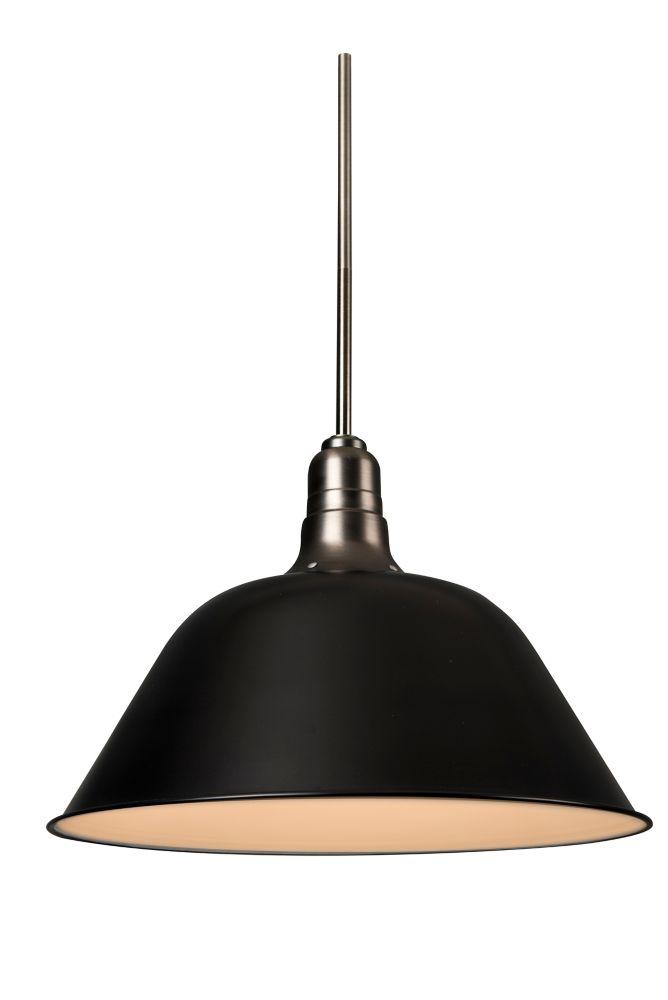 L2 Lighting Black Matt 18 Inch Dome Pendant
