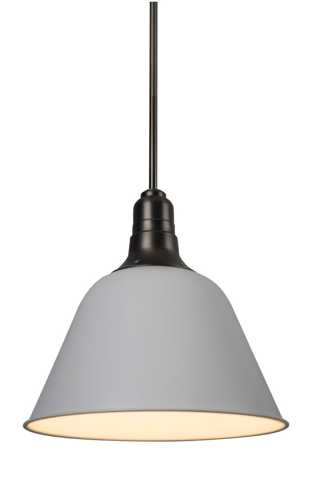 White Matt 14 Inch Dome Pendant