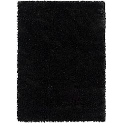 ECARPETGALLERY Carpette, 5 pi 3 po x 7 pi 3 po, à poils longs, rectangulaire, noir Uptown