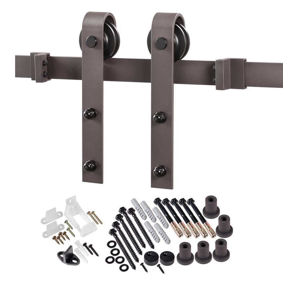 kits rail hardware track door lowe system barn s barns box lowes sliding