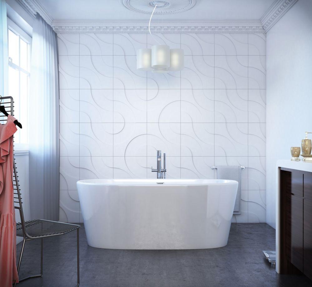 Mirolin Sybil 5 Feet 2-Inch Oval Freestanding Flat-bottom Non Whirlpool Bathtub