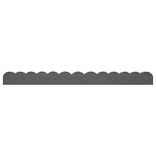 Bordure de jardin dentelée accrochable, 47 po, gris Pylon