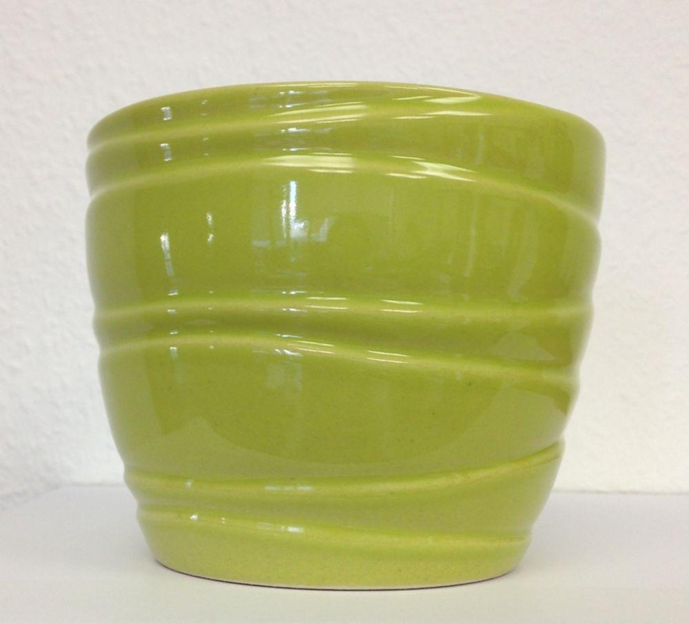 Ceramic Pot Wave Lime 6 In