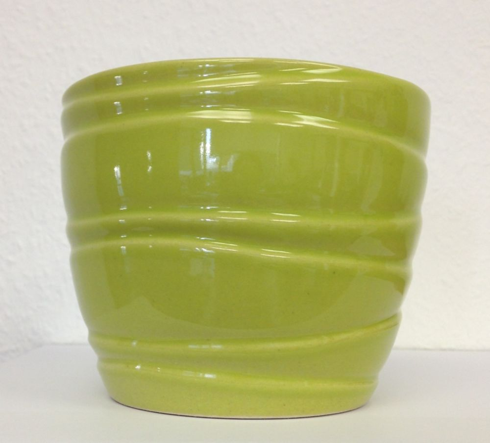 POT CÉRAMIQUE WAVE LIME 6""