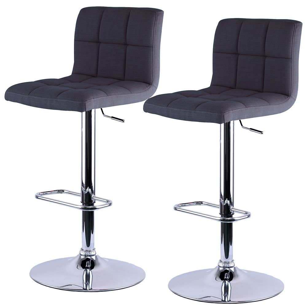 Max Ii Box Of 2 Gas Lift Stool-Grey 203-935GY Canada Discount