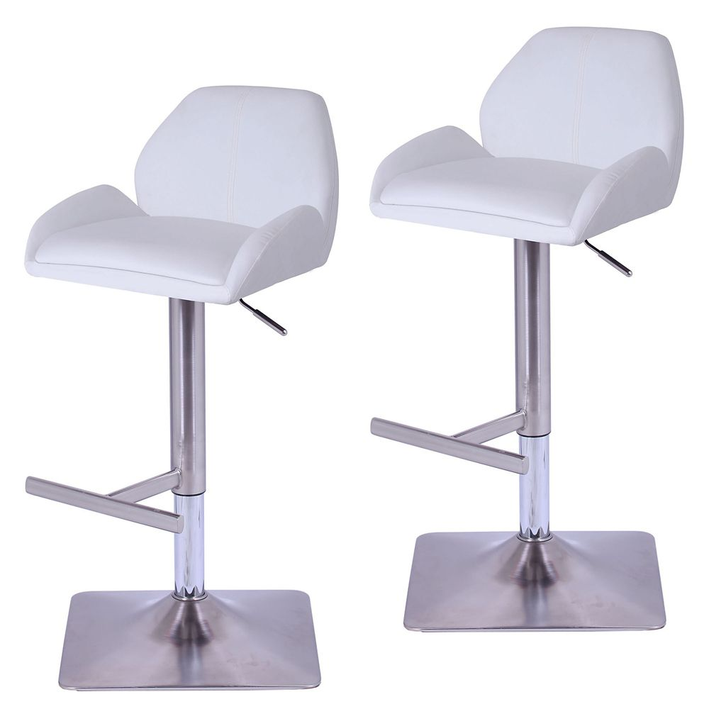 Truman Box Of 2 Gas Lift Stool-White 203-245WT in Canada