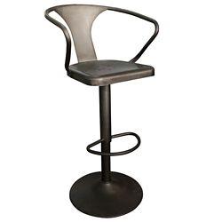 !nspire Astra Metal Black Industrial Backless Bar Stool with Black Metal Seat