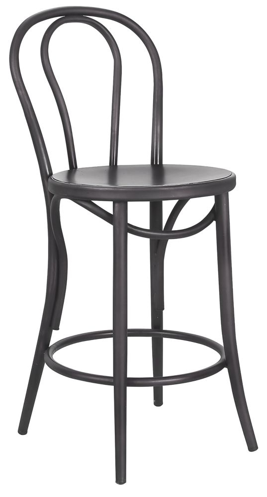 Belize Box Of 2 Counter Stool,26 Inch-Gunmetal