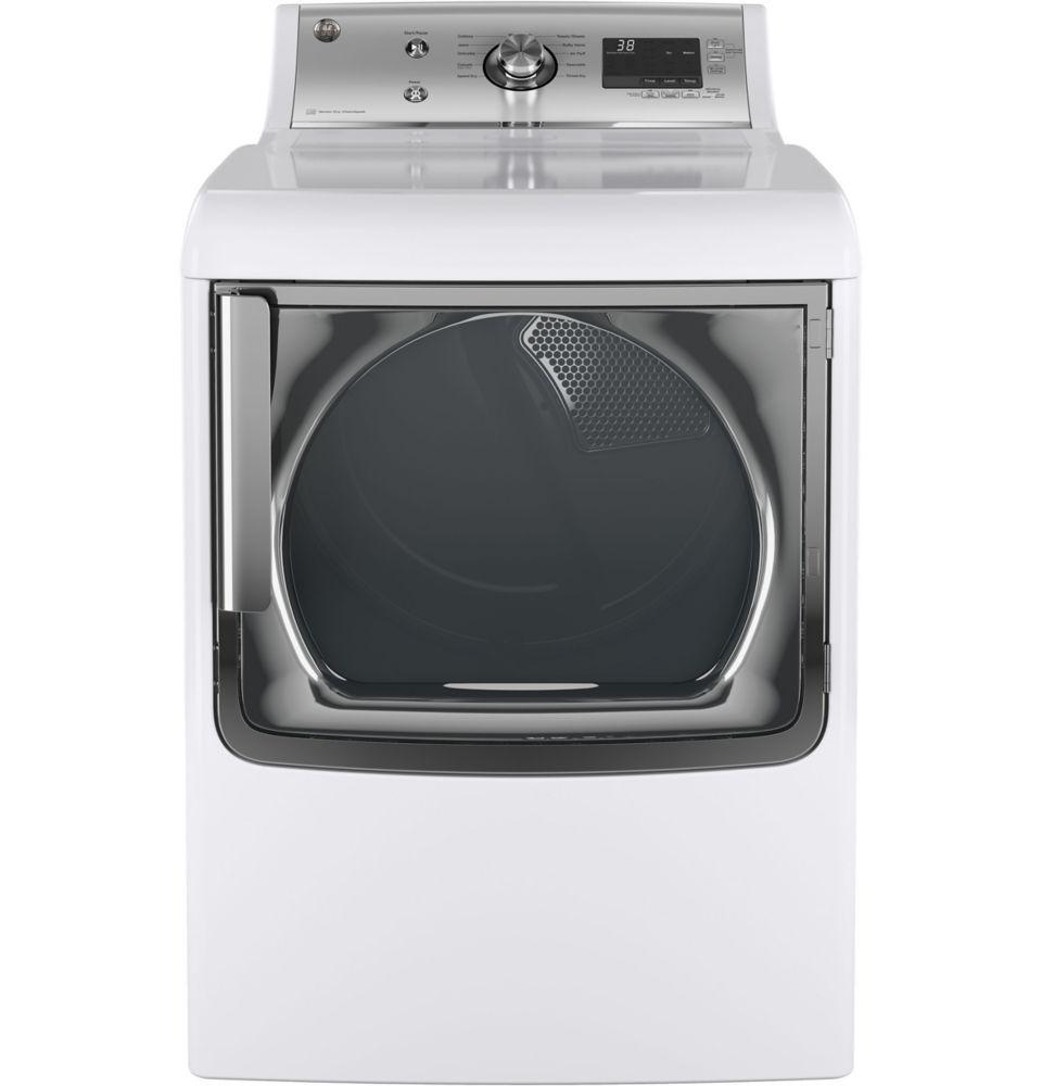 Silver On White 7.8 Cu.Feet. Capacity Gas Dryer