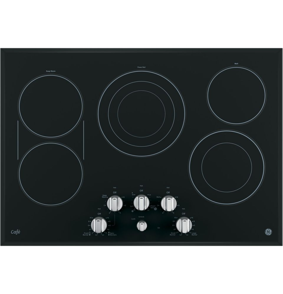 Stainless Steel 30 Inch Electric Cooktop