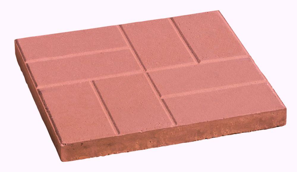 16x16 Brick Slab Red