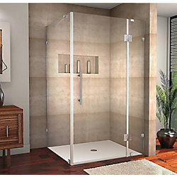 Aston Avalux 40-Inch  x 36-Inch  x 72-Inch  Frameless Shower Stall in Stainless Steel