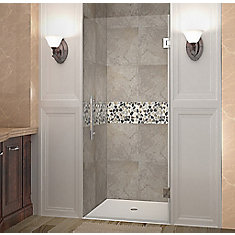Cascadia 31 Inch X 72 Inch Completely Frameless Hinged Shower Door In Chrome