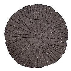 18 inch x 18 inch Log Stepping Stone Grey
