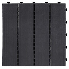18 inch x18 inch Cosmo Deck Tile Slate