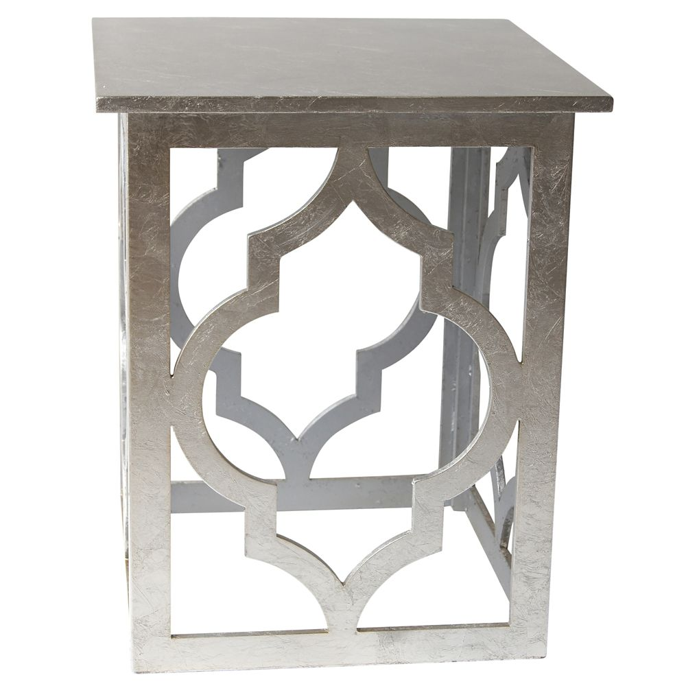 !nspire Marrakesh-Accent Table-Silver