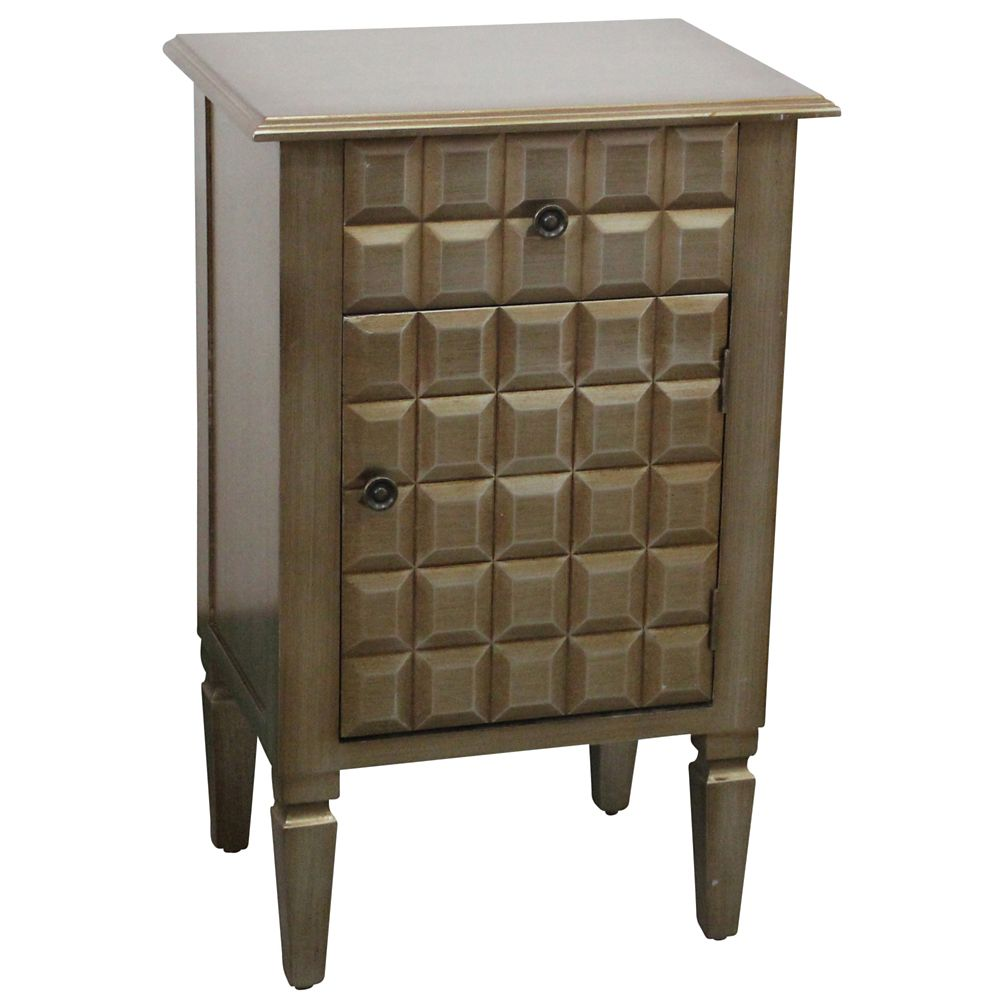Monroe-Accent Table-Champagne