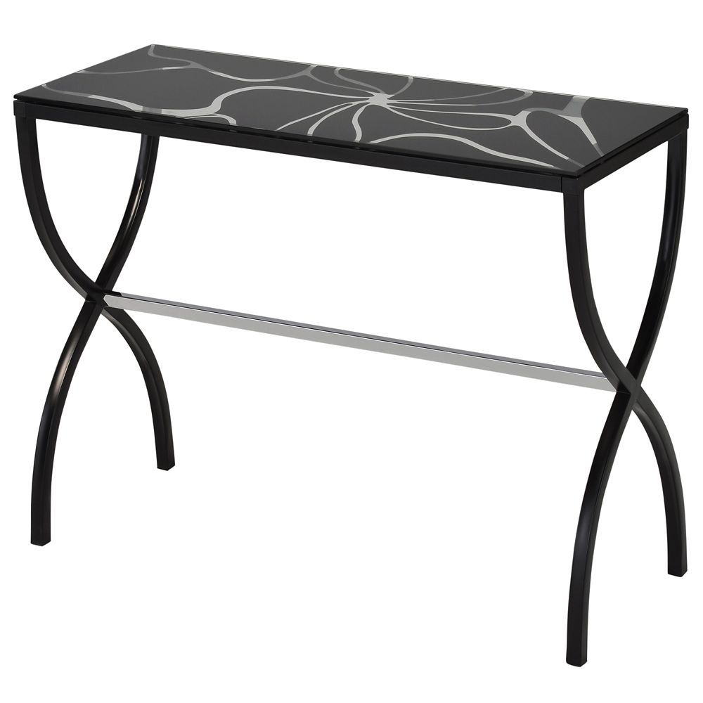 Olivia-Console Table-Black 502-890BK in Canada