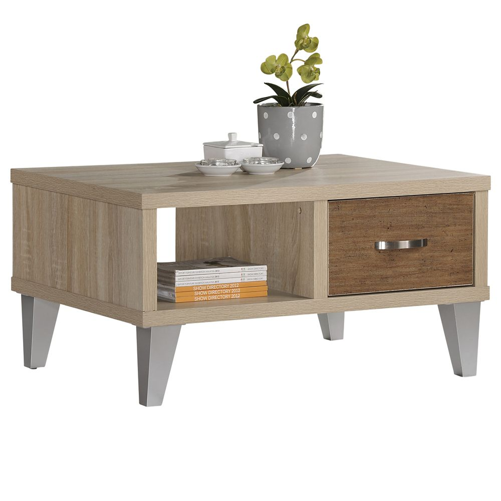 Ozzy-Coffee Table-White Oak/Brown 301-413 Canada Discount