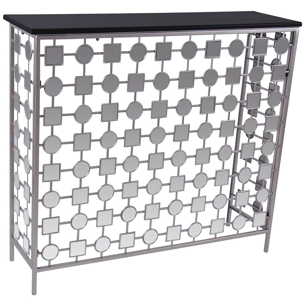 Bliss-Console Table-Antique Silver