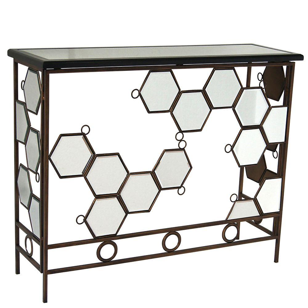 Diamond-Console Table-Antique Bronze 502-468 Canada Discount