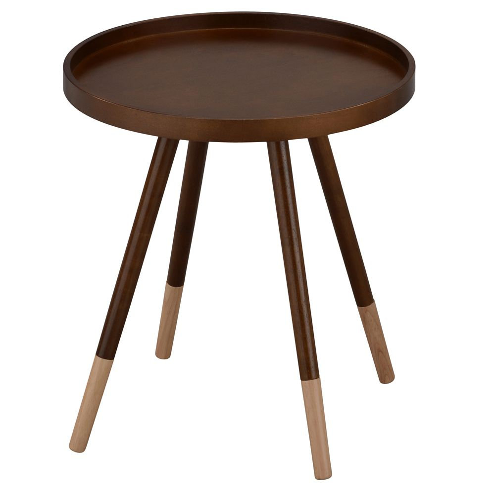 Hue-Accent Table-Walnut